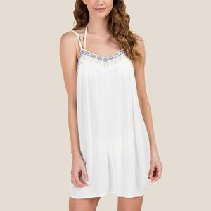 Francesca's White Swimsuit Coverup